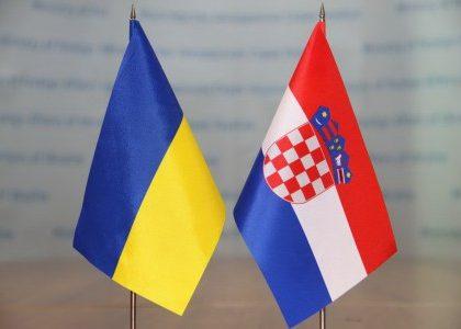 прапорці Україна-Хорватія