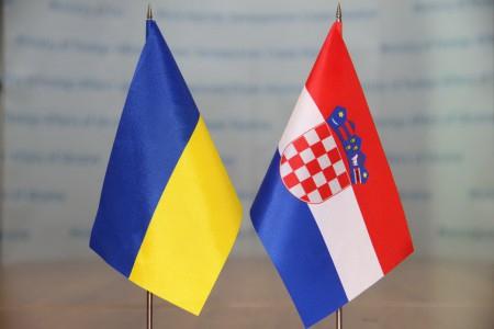 прапори Україна-Хорватія
