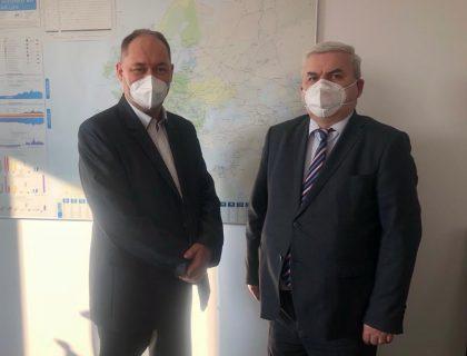 Посол України в Словацькій Республіці Юрій Мушка з Генеральним директором словацької енергетичної компанії «Eustream» Растіславом Нуковічом
