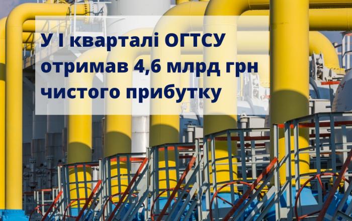У І кварталі ОГТСУ отримав 4,6 млрд грн чистого прибутку