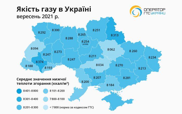 Gas Quality Map (September)